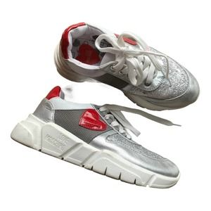 Love Moschino red heart sneakers
